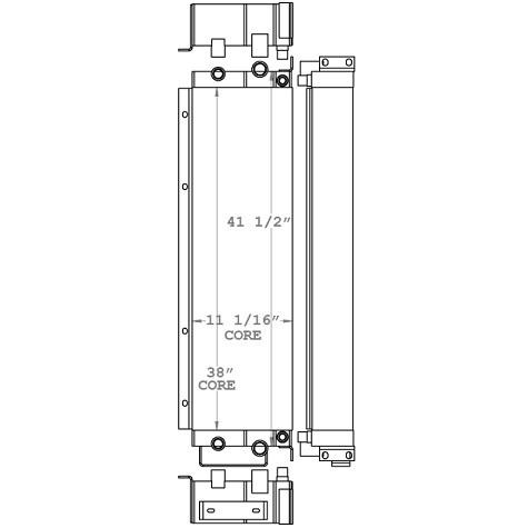 271052 - John Deere 670 & 672 Grader Oil Cooler Oil Cooler