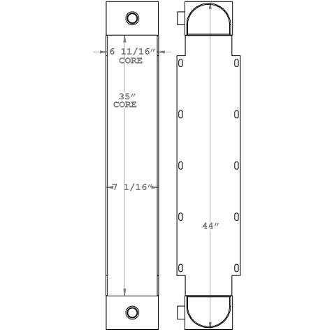 271053 - Taylor T450 Big Red Lift Truck Oil Cooler Oil Cooler