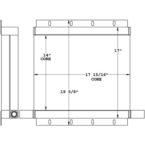 271055 - Industrial Oil Cooler Oil Cooler