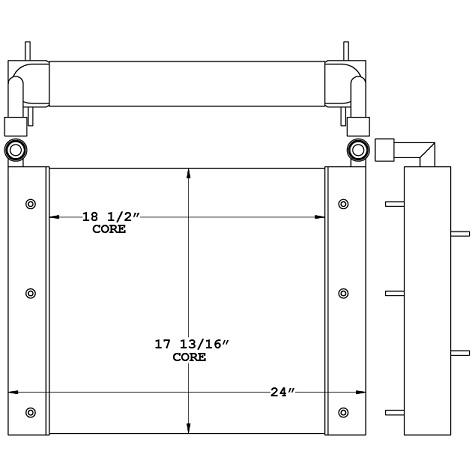 271056 - Industrial Oil Cooler Oil Cooler