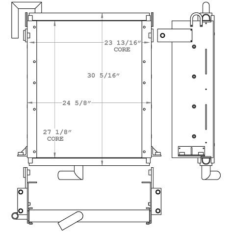 271065 - Hitachi EX120-1 Excavator Hydraulic Oil Cooler Oil Cooler