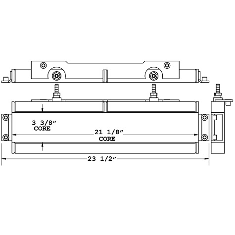 271068 - Generac MAC 750F Industrial Heater Oil Cooler Oil Cooler