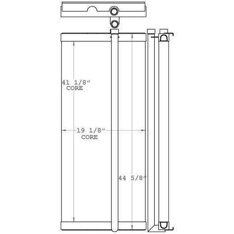 271071 - Link-Belt / Terex RT775 Crane Oil Cooler Oil Cooler