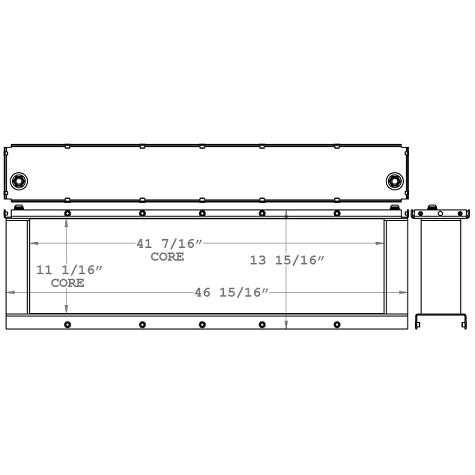 271073 - Gleaner R72 Hydraulic Oil Cooler Oil Cooler