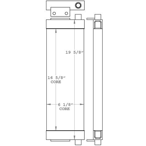 271077 - John Deere Oil Cooler Oil Cooler