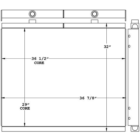 271083 - Air Compressor Oil Cooler Oil Cooler