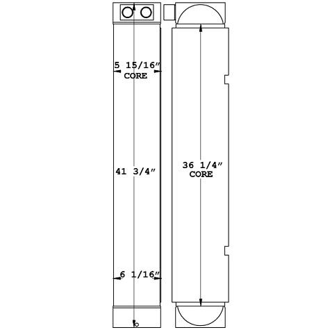 271090 - Caterpillar D6N Hydraulic Oil Cooler Oil Cooler