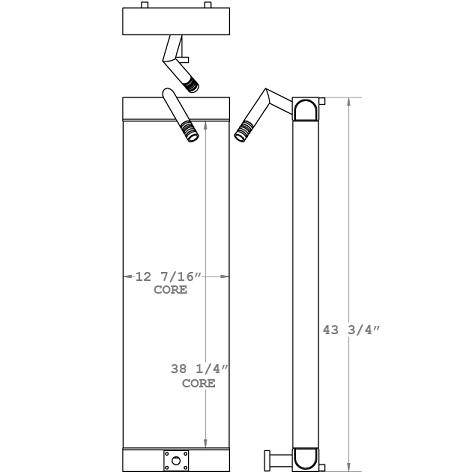 271101 - Case CX130 Hydraulic Oil Cooler Oil Cooler