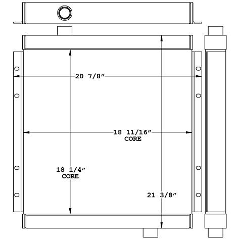 271102 - Industrial Oil Cooler Oil Cooler