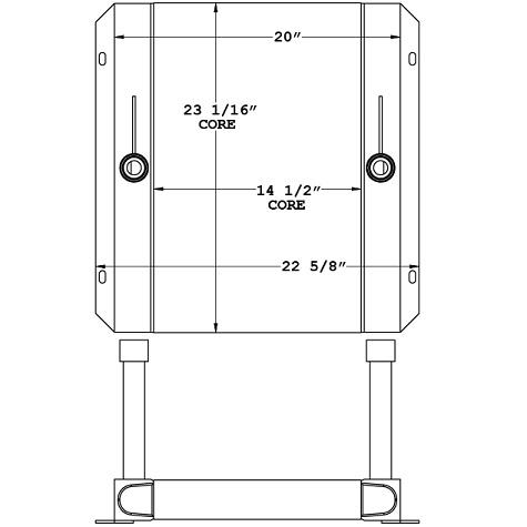 271110 - Frac Pump Hydraulic Oil Cooler Oil Cooler