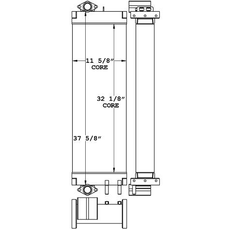 271115 - Komatsu PC228 3 Piece Hydraulic Oil Cooler Oil Cooler