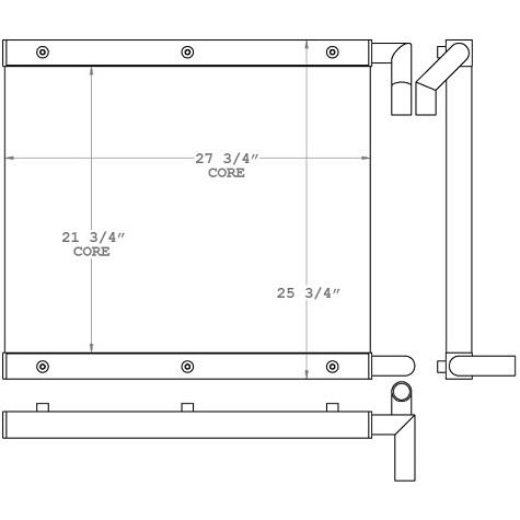 271117 - Kobelco Trackhoe Oil Cooler Oil Cooler