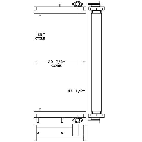 271121 - Komatsu PC400 Series Hydraulic Oil Cooler Oil Cooler