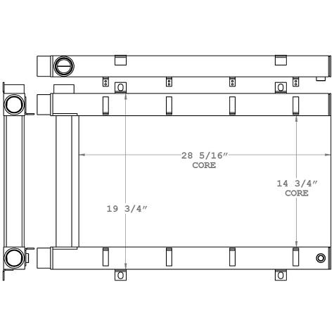 271133 - Skidder Hydraulic Oil Cooler Oil Cooler
