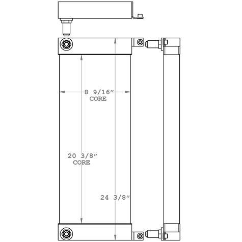 271146 - Bobcat S100 Skidsteer Oil Cooler Oil Cooler