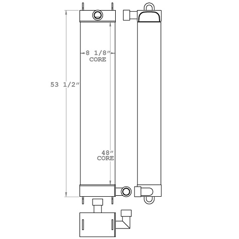 271158 - Kawasaki Wheel Loader Oil Cooler Oil Cooler