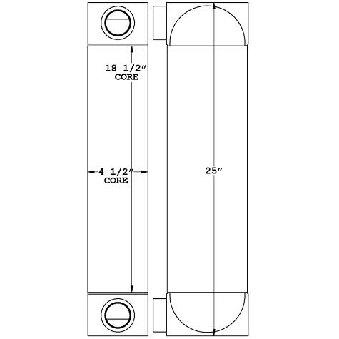 271160 - Cummins Tier IV Oil Cooler Oil Cooler