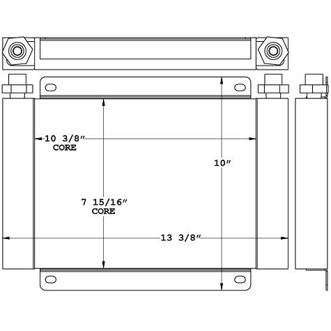 271162 - Van External Engine Oil Cooler Oil Cooler