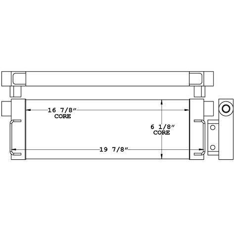271163 - Komatsu Moto Grader Axel Oil Cooler Oil Cooler
