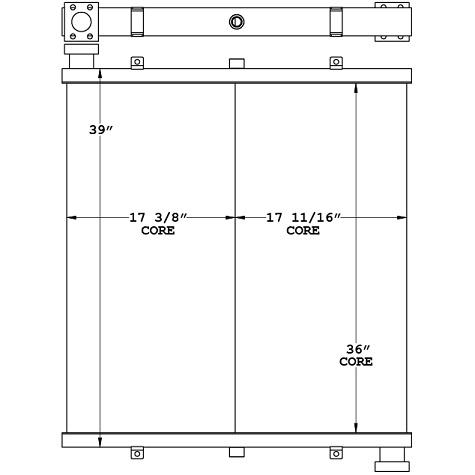 271164 - Manitowoc 777 Crane Oil Cooler Oil Cooler
