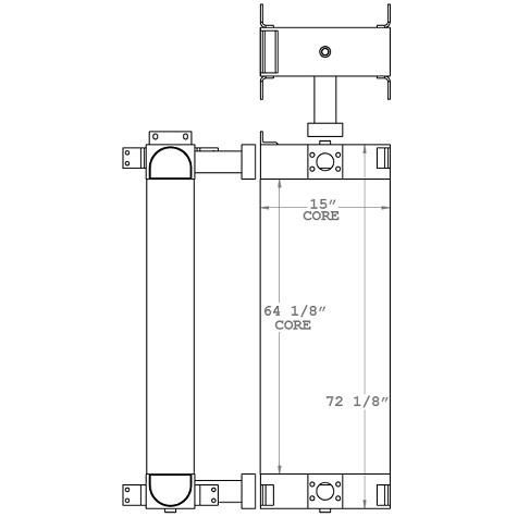 271171 - Schramm 450 WS Roto Driller Oil Cooler Oil Cooler