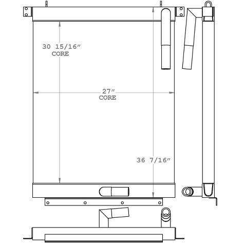 271193 - Komatsu PC220-3 Hydraulic Oil Cooler Oil Cooler