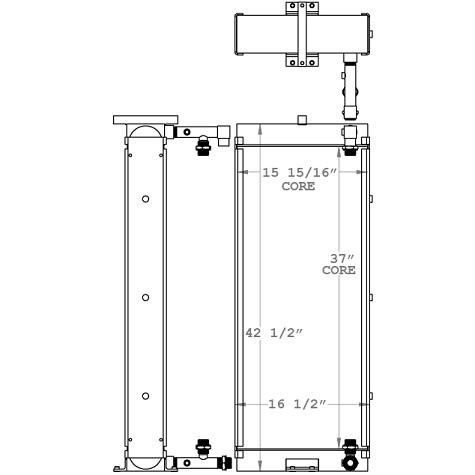 271195 - Hyudai HL757 Transmission Oil Cooler Oil Cooler