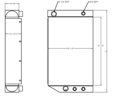 271202 - Sennebogen 830 Hydraulic Oil Cooler Oil Cooler