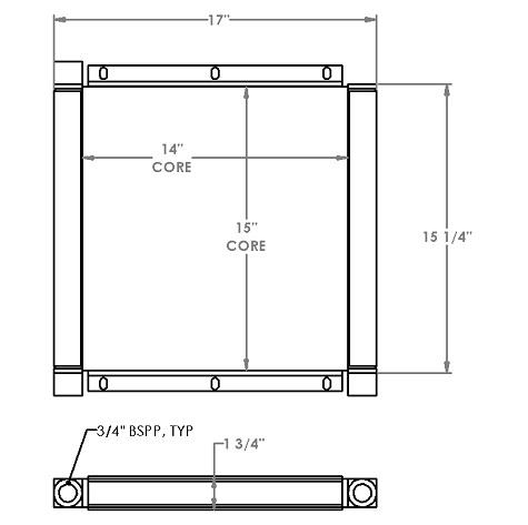 271206 - Bobcat V623 Telehandler Oil Cooler Oil Cooler