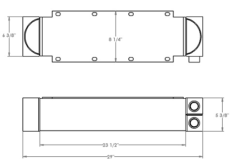 271212 - Crimson Pump Oil Cooler Oil Cooler