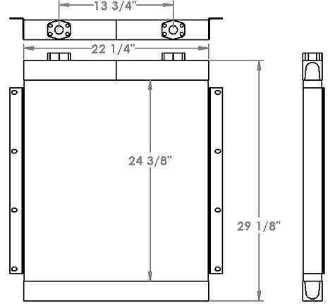 271213 - Daewoo / Doosan MEGA DD80L Hydraulic Oil Cooler Oil Cooler