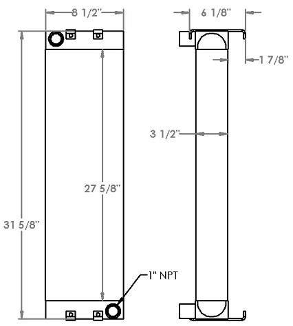 271219 - ASV MD2810 Skidsteer Oil Cooler Oil Cooler