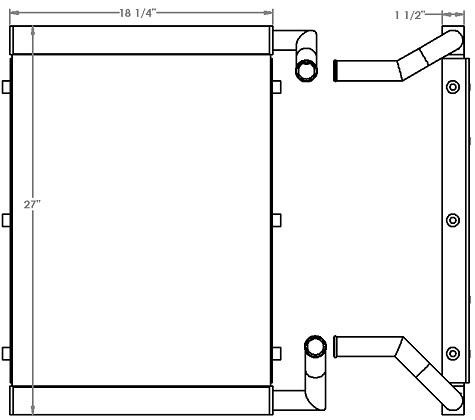 271225 - Hyundai R55-9 Excavator Oil Cooler Oil Cooler