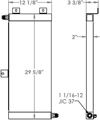 271226 - Case 721B Wheel Loader Oil Cooler Oil Cooler
