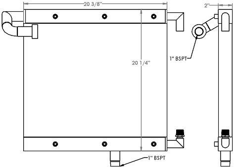 271227 - Industrial Oil Cooler Oil Cooler