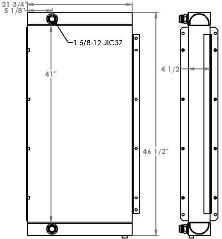 271228 - Doosan / Ingersoll Rand Oil Cooler Oil Cooler