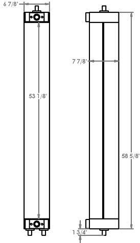 271236 - Komatsu WA500-8 Oil Cooler Oil Cooler