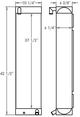 271240 - Caterpillar D6K Oil Cooler Oil Cooler