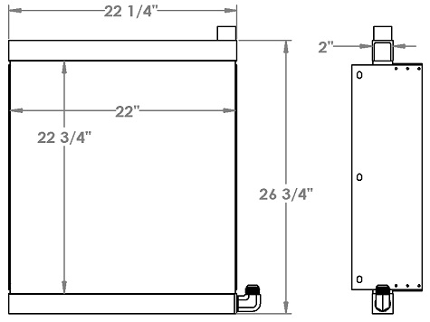 271243 - Thomas 225 Skidsteer Oil Cooler Oil Cooler