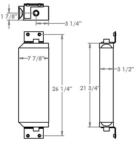 271244 - Elgin Sweeper Oil Cooler Oil Cooler