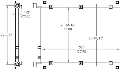 271249 - Hydraulic Pump Oil Cooler Oil Cooler
