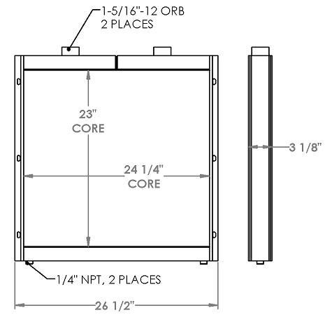 271252 - Morbark 6600 Grinder Oil Cooler Oil Cooler