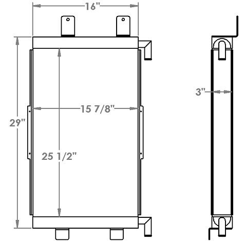 271254 - Case 821E Transmission Oil Cooler Oil Cooler