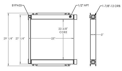 271259 - Industrial Oil Cooler Oil Cooler