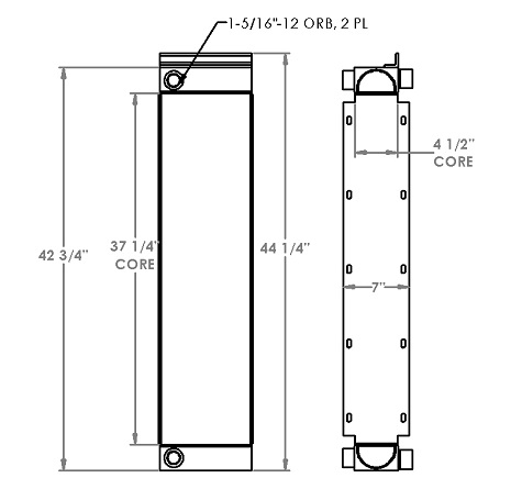 271260 - John Deere 750J Oil Cooler Oil Cooler