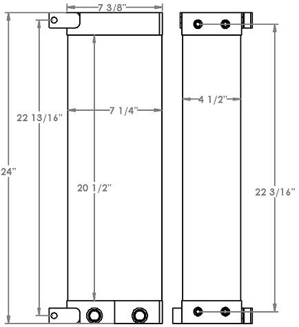 271262 - Hyster H80FT Oil Cooler Oil Cooler