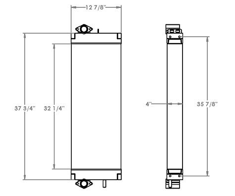 271263 - Komatsu PC228 Hydraulic Oil Cooler Oil Cooler