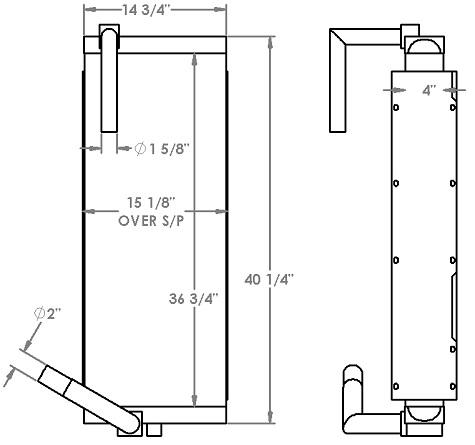 271277 - John Deere 230 Excavator Oil Cooler Oil Cooler