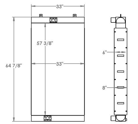 271281 - Industrial Oil Cooler Oil Cooler