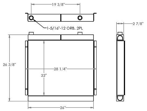 271283 - Crane Oil Cooler Oil Cooler